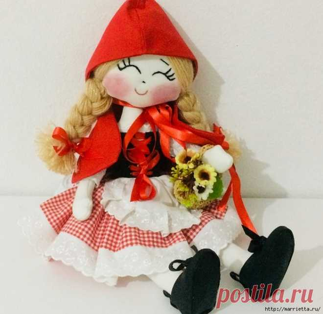 Текстильная куколка Красная шапочка. Выкройка и мастер-класс