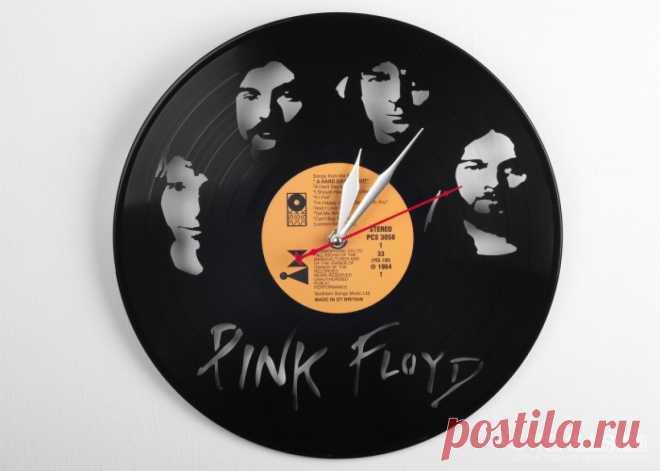 Часы из виниловой пластинки «Пинк Флойд» купить подарок в ArtSkills: фото, цена, отзывы