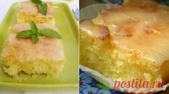 Какой пирог сварганить из двух лимонов, быстрый кислый сладкий!
