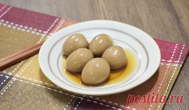 Яйца, маринованные в соевом соусе