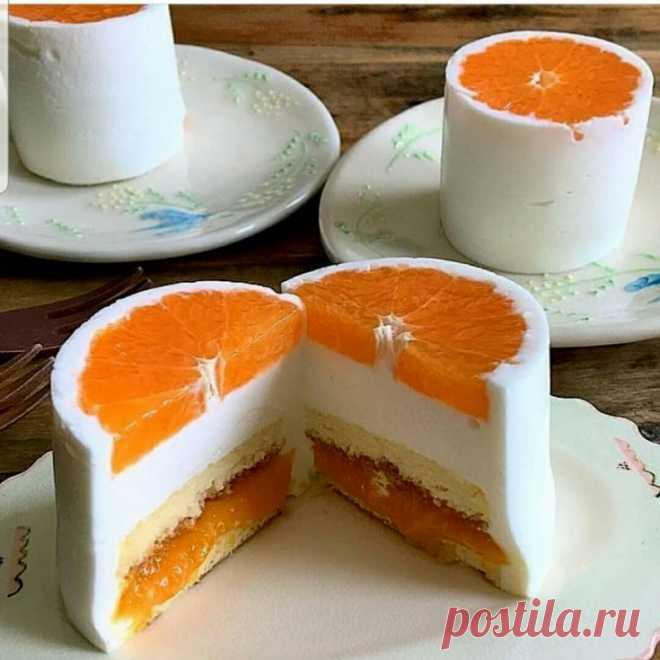 Фруктовый тортик на одного.