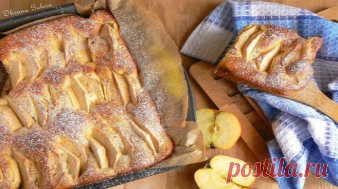 Яблочный пирог на молоке - самый простой и вкусный рецепт - interesno.win Пирог из яблок очень быстро готовится и получается невероятно вкусным по данному...