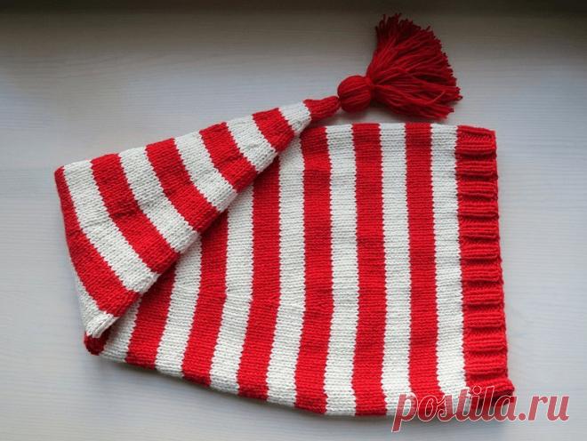 Как связать шапку буратино спицами (мастер класс)