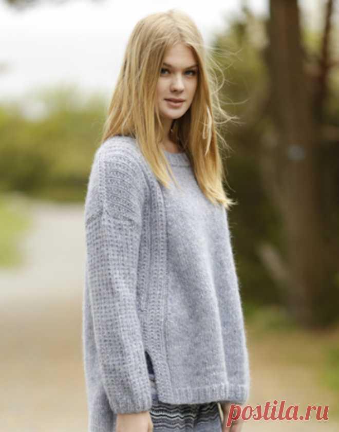 свитера женские вязаные спицами 2018 фото со схемами свитер