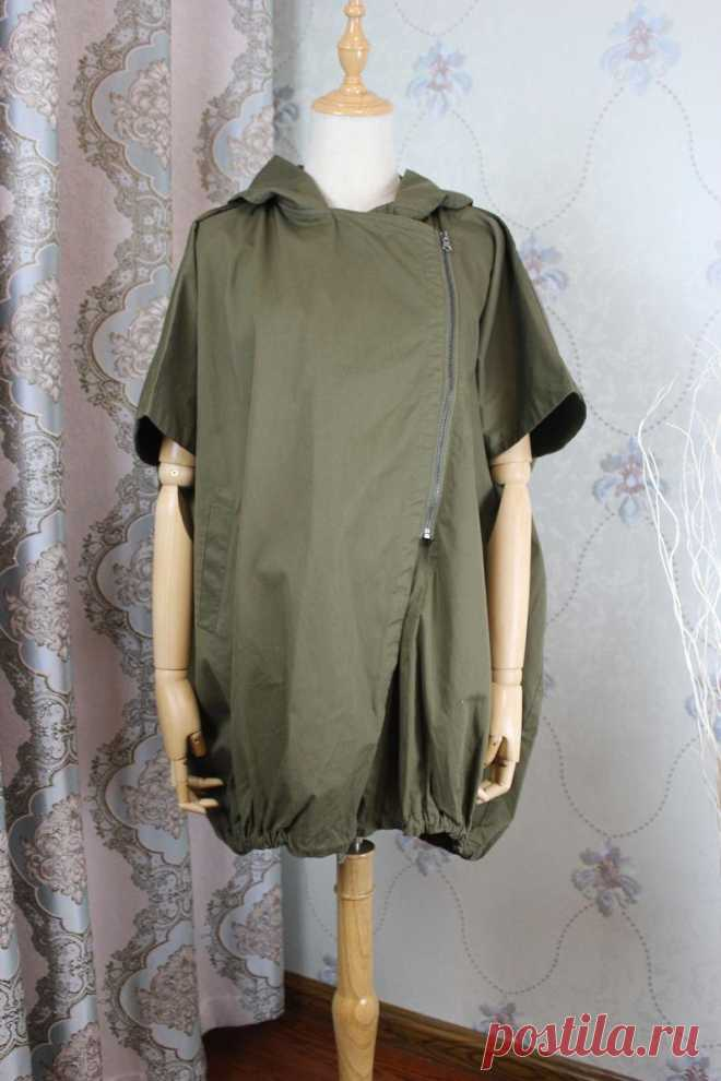 Women Cotton Hooded coat Women Jacket army green Oversized | Etsy
