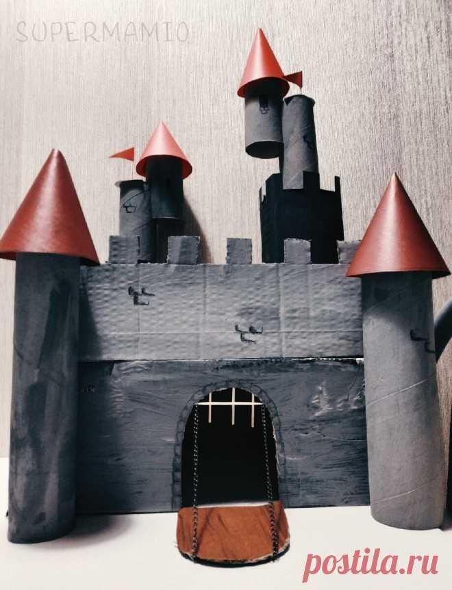 Сделали с ребенком поделку из картонных коробок и втулок | SUPERMAMIO | Яндекс Дзен