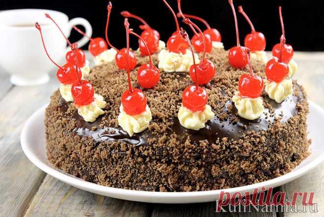 Торт «Пьяная вишня» пошаговый рецепт с фото