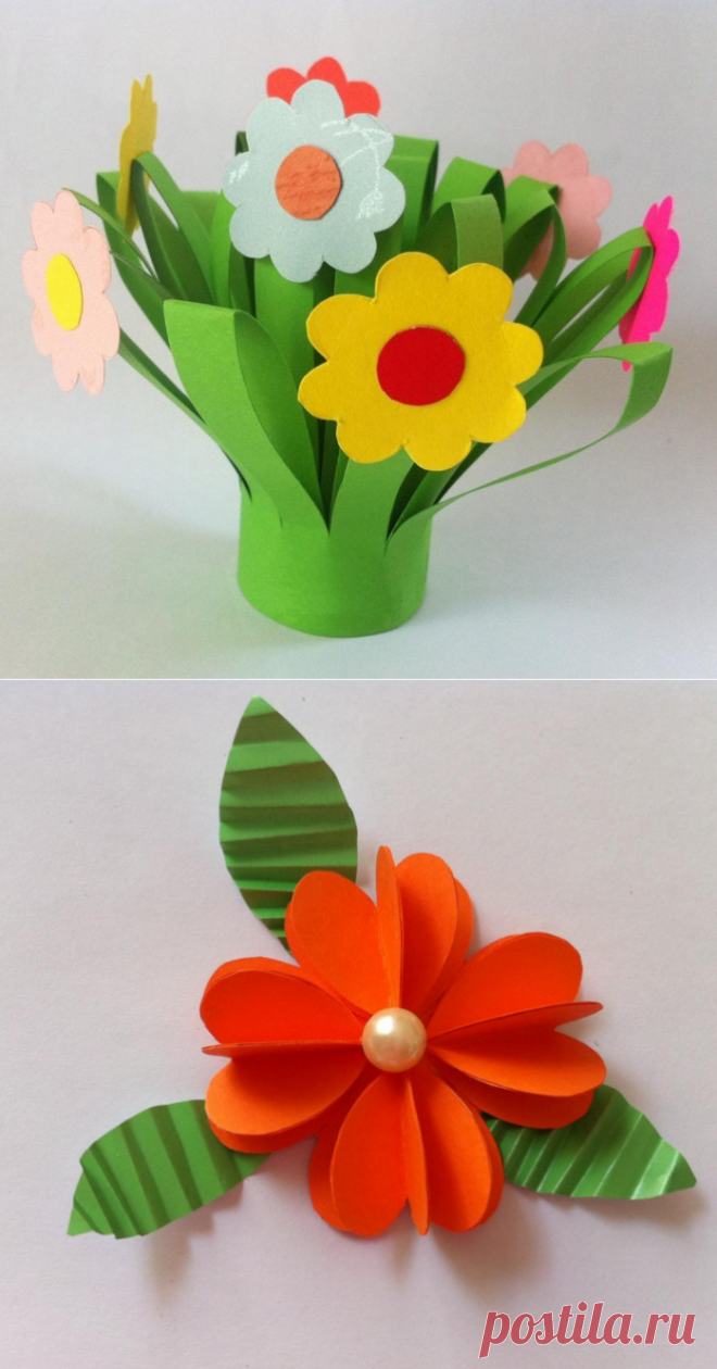Simple Flowers From Paper Easy Hand Made Articles The Hands For