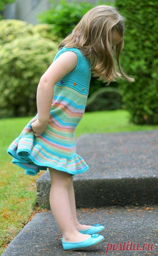 Летнее платье для девочек Shades of Summer - Вяжи.ру
