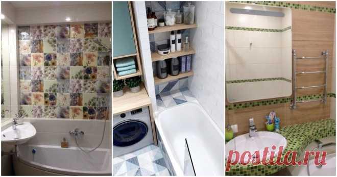 Даже крошечную ванную комнату можно сделать комфортной