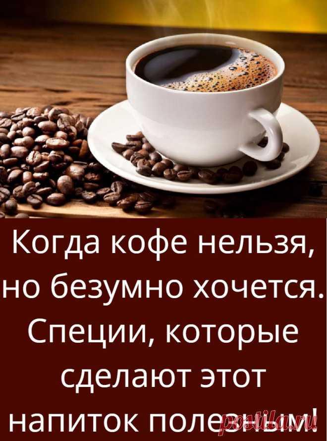 Когда кофе нельзя, но безумно хочется. Специи, которые сделают этот напиток полезным!
