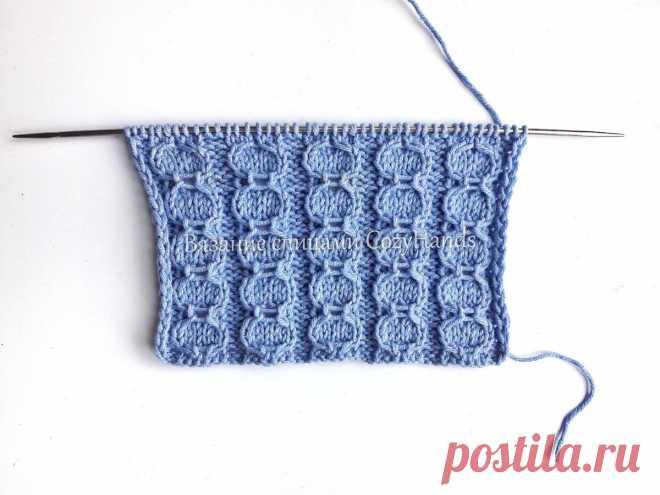 Простой узор спицами вертикальные Цепи для вязания носков, шапок, свитеров   Вязание спицами CozyHands   Яндекс Дзен