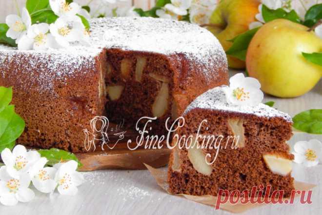 Шоколадная шарлотка с яблоками Свою яблочную неделю продолжаю рецептом шарлотки, но не простой, а шоколадной.