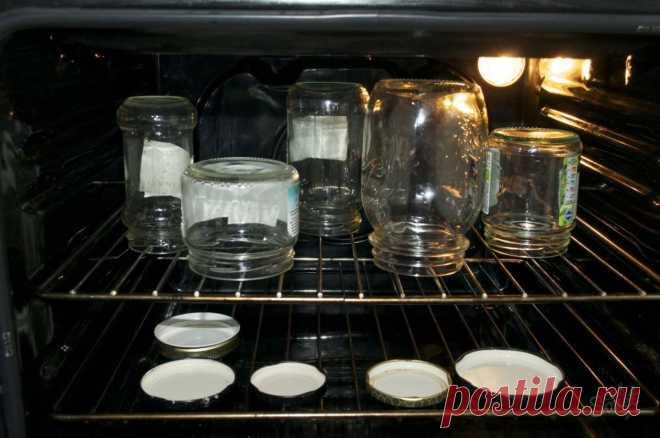Как простерилизовать банки в духовке. Технология стерилизации банок в духовке