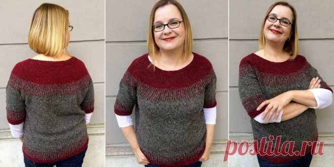 The pullover with the round coquette of Interrotto is Вяжи.ру
