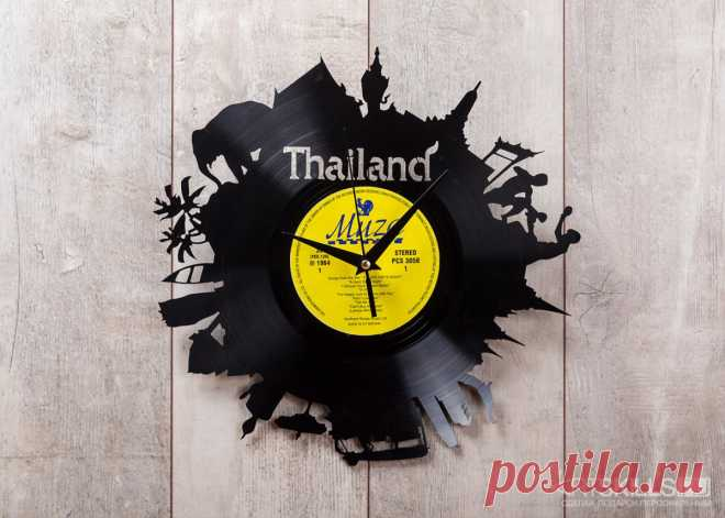 Часы из виниловой пластинки «Таиланд» купить подарок в ArtSkills: фото, цена, отзывы