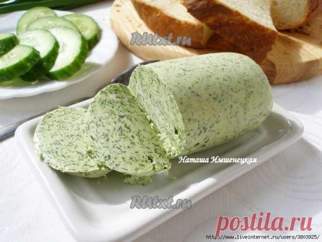Масло с зеленью и чесночное масло