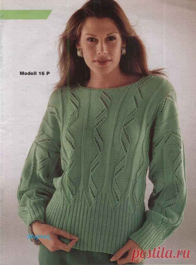 Зеленый пуловер..
