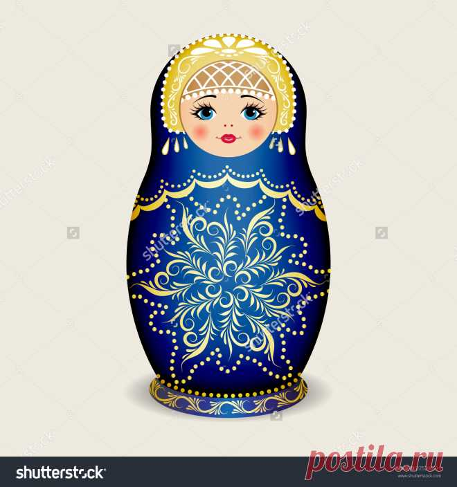 Russian Dolls - Matryoshka. Vector Illustration - 225296221: Shutterstock