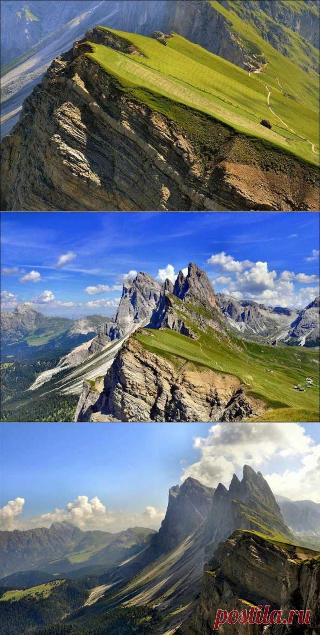 Ферма на крутом склоне в Альпах