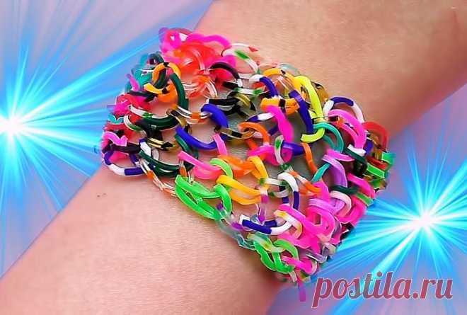 Схемы плетения браслетов из резинок своими руками с фото