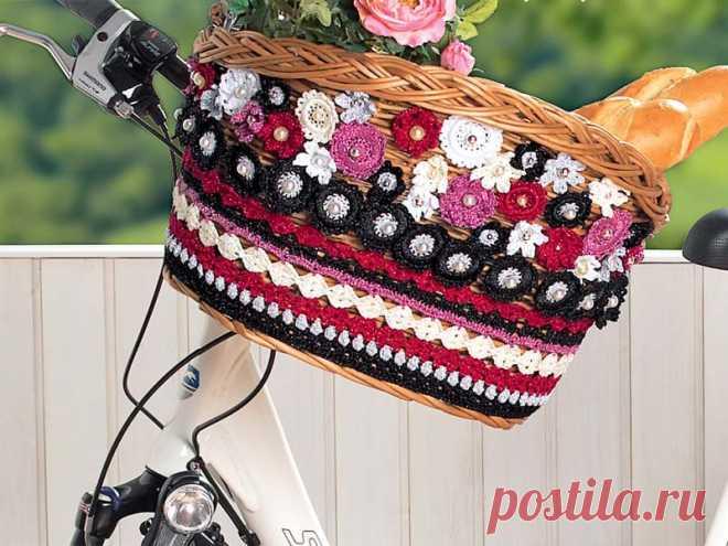 Корзина для велосипеда - схема вязания крючком. Вяжем Декор на Verena.ru