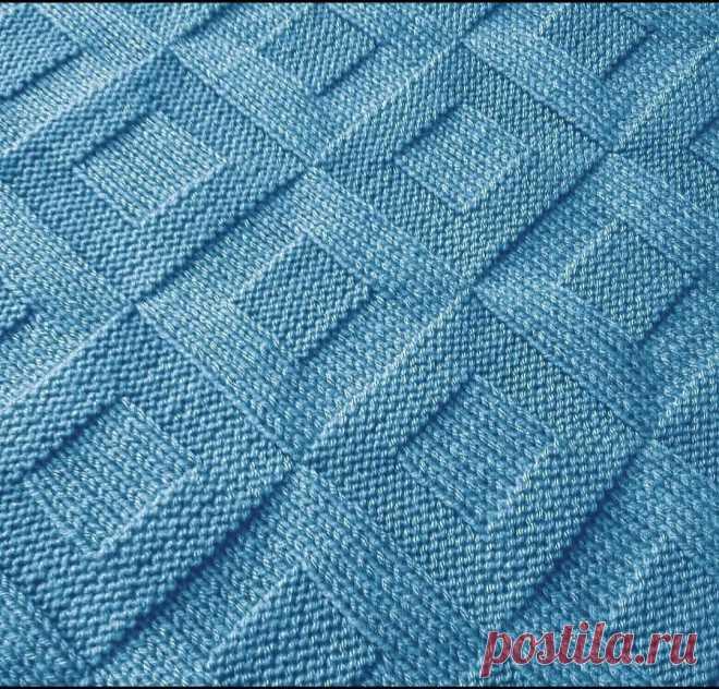 8 простых узоров для вязания спицами. Таких в моей копилке еще не было.   Вязальный дзен   Яндекс Дзен