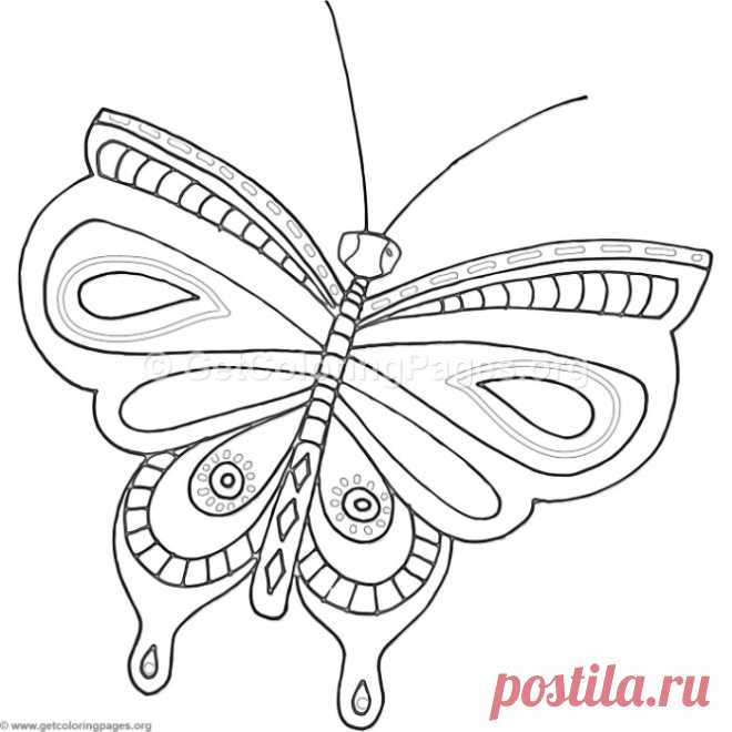 13 Fantasy Flower Butterfly Coloring Pages – GetColoringPages.org