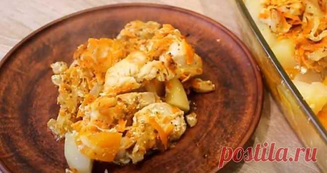 Как приготовить картофель с тыквой и мясом в духовке