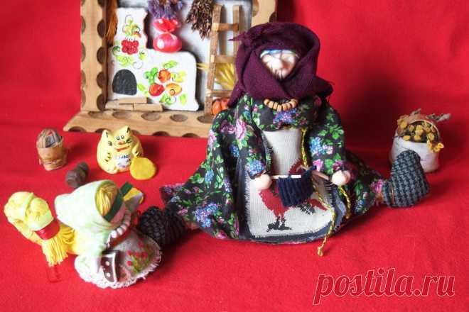 Народная кукла - Бабка характерная. Развеселит и уму разуму научит.