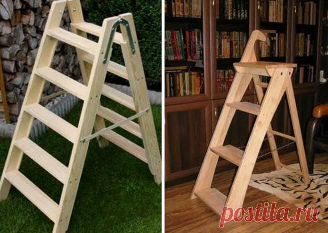 Как смастерить складную лестницу-стремянку из того что под рукой