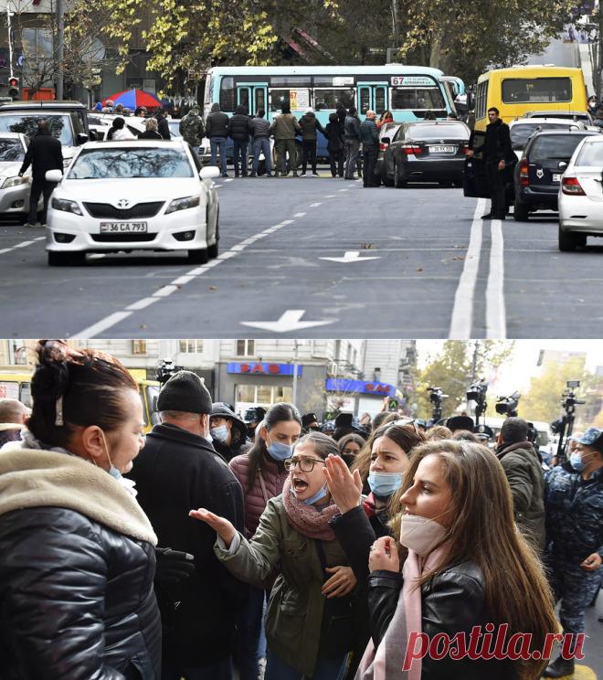 19.11.20-Перекрыли дороги: в Ереване требуют отставки Пашиняна - Газета.Ru | Фото