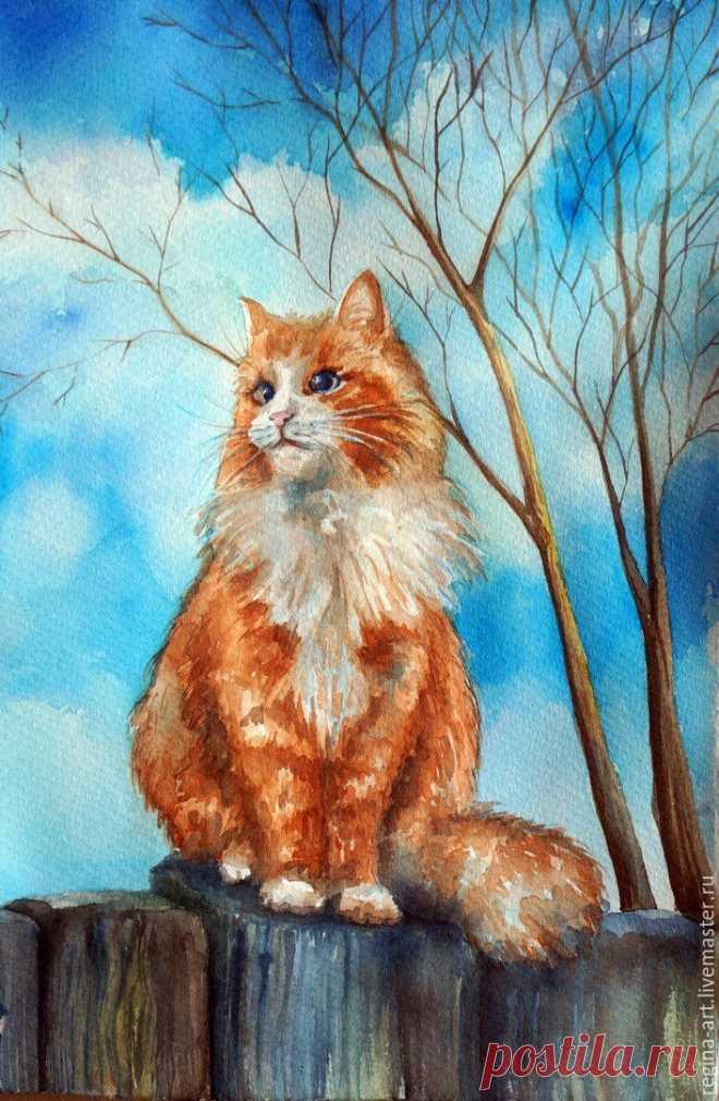 Картинки кошки красками