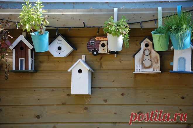 Скворечники: домики для птичек - они могут быть такими милыми и красивыми, что хочется сразу построить маленькое жилище для пернатых из деревяшек, из сухих веток деревьев, да мало ли еще из чего.Весна - время перемен, время возвращения бурной деятельности всего сущего.
