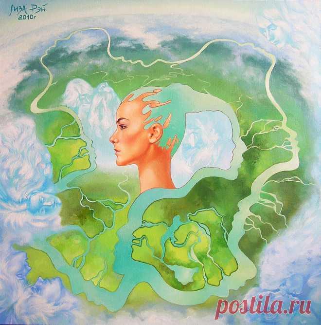 Лиза Рэй – Река размышления Lisa Ray - The reflexion river 85Х85, 2010 canvas, oil  - холст,масло #surreal #surrealism #超現實主義 #surréalisme #シュールレアリズム  #painting #LisaRay #сюрреализм #ЛизаРэй #живопись #картины #художник #art #скрытыеобразы #река #мысль #любовь #объятия #поцелуй #двое #мечты #opticalillusions #river #thought #love #hugs #kiss #two #dreams #secret #загадка