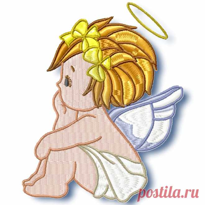 Baby Angels Machine Embroidery ⋆ Pamela's Embroidery