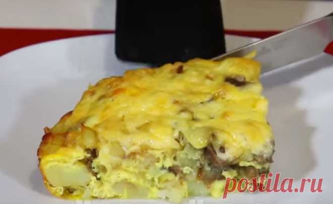 Запеченная картошка с грибами и сыром