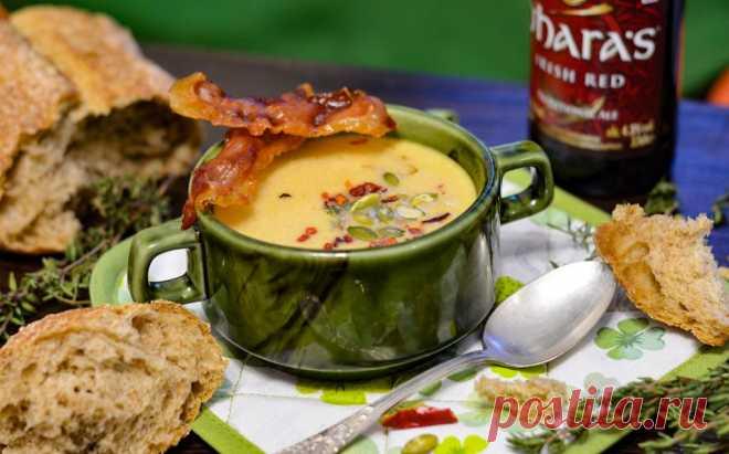 Ирландский суп: красный эль, чеддер и картофель (Irish Red Ale, Cheddar and Potato Soup) - Вкусные заметки