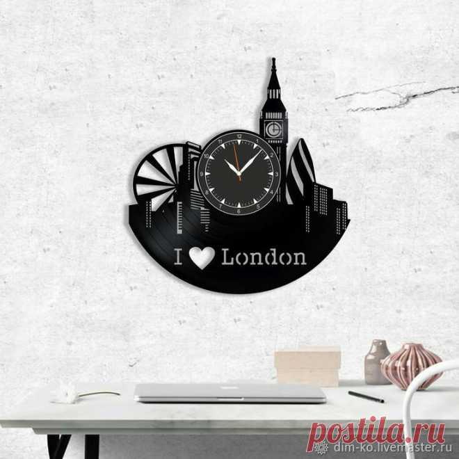Часы настенные из пластинки Лондон – купить в интернет-магазине на Ярмарке Мастеров с доставкой Часы настенные из пластинки Лондон - купить или заказать в интернет-магазине на Ярмарке Мастеров | Часы изготовлены из старых виниловых пластинок.