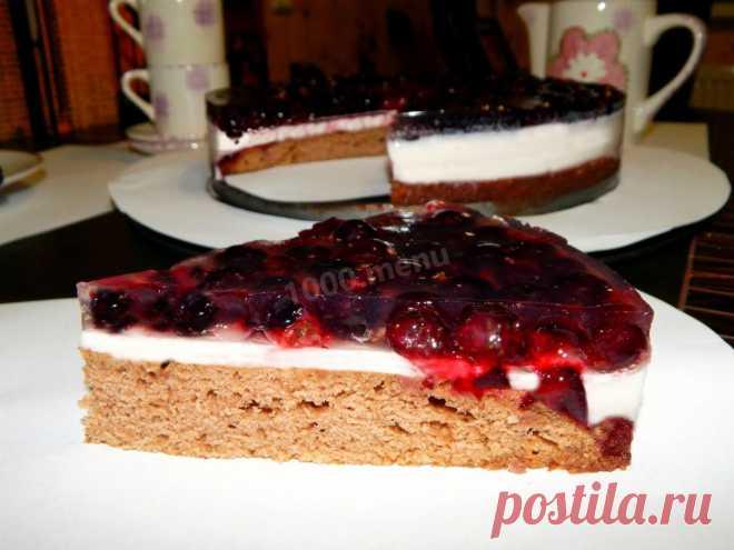 Торт с черной смородиной рецепт с фото пошагово - 1000.menu