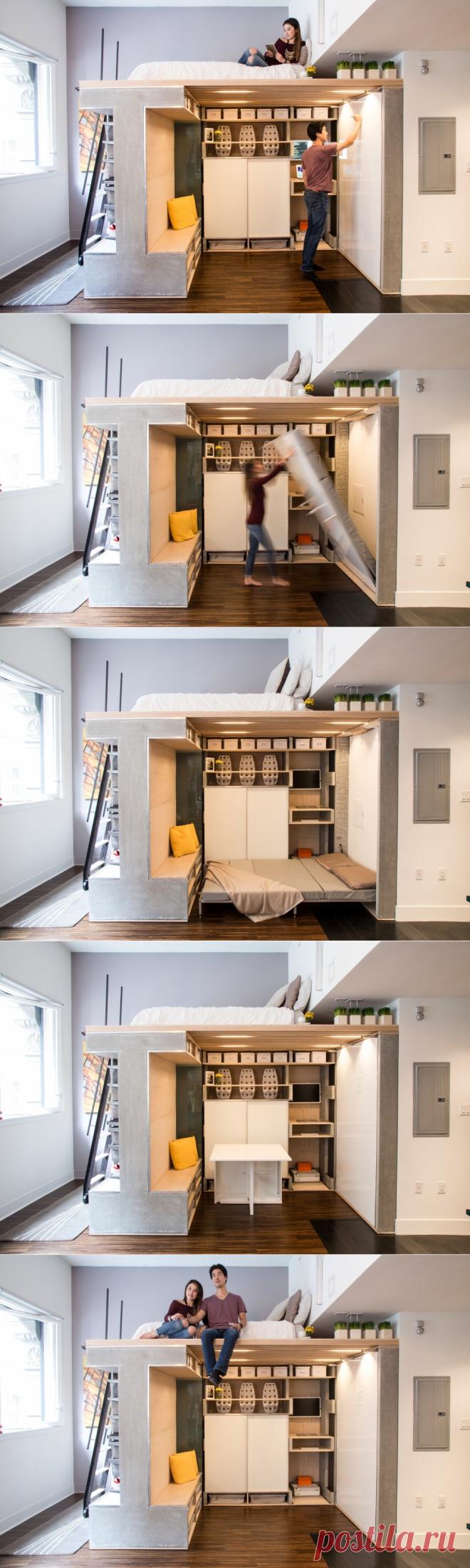 Функциональное решение в небольшой квартире - Дизайн интерьеров | Идеи вашего дома | Lodgers