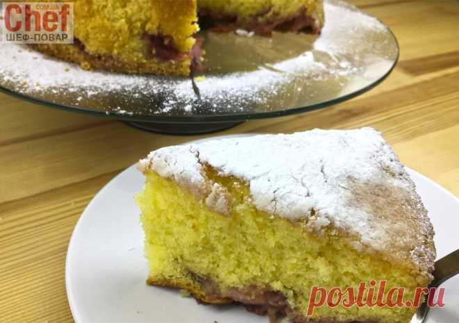 Лимонный пирог с клубникой / Сладкая выпечка / Рецепты / Шеф-повар – простые и вкусные кулинарные рецепты, фото-рецепты, видео-рецепты