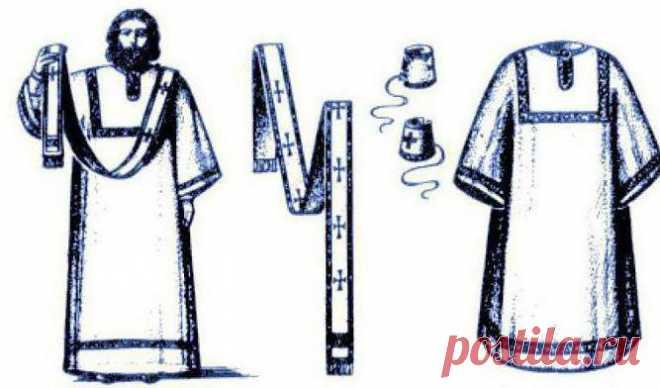 Облачение священника: одежда, головные уборы, поручи, наперсный крест