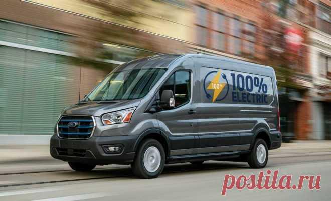 Новый электрический Ford E-Transit 2022 характеристики