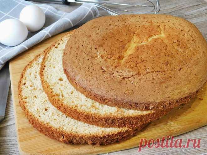 Бисквит для торта пышный и простой в духовке рецепт с фото пошагово и видео - 1000.menu