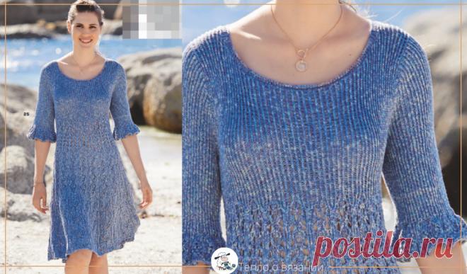 Вяжем летнее платье! Подробное описание романтичной модели с воланами   Тепло о вязании   Яндекс Дзен