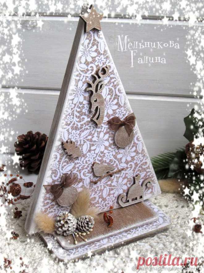 Ёлочка деревянная новогодняя – купить на Ярмарке Мастеров – K3NO0RU | Елки, Москва