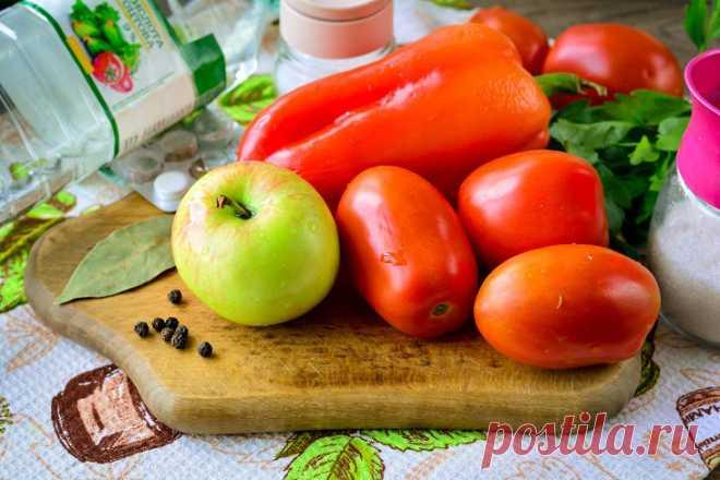 Помидоры с яблоками на зиму: рецепт с фото пошагово