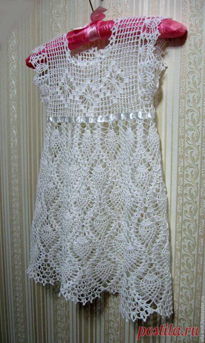 48b3e52cbfb вязаное крючком платье для девочки