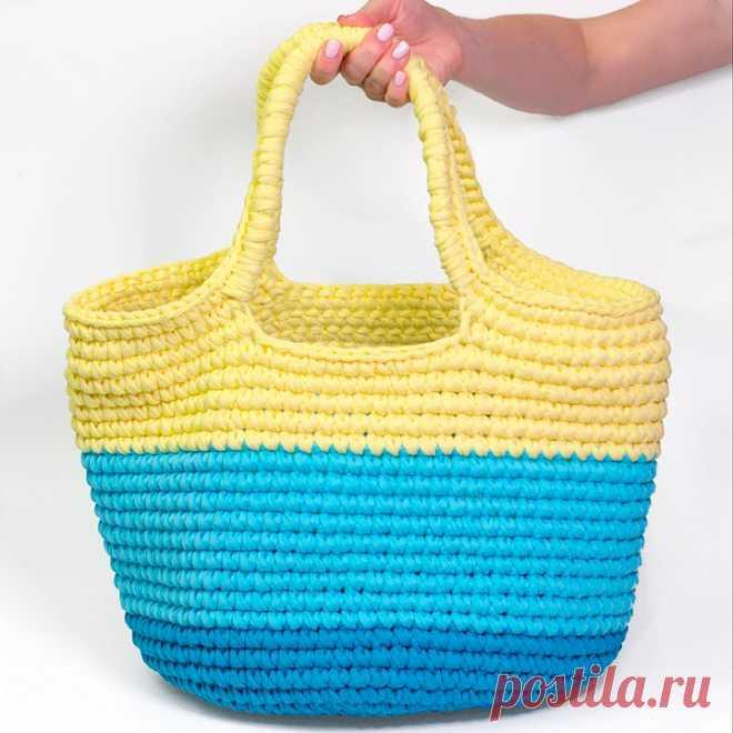 Как связать пляжную сумку крючком